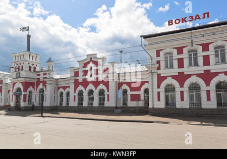 Vologda, Russia - June 20, 2017: Building of railway station Vologda 1 - Stock Photo