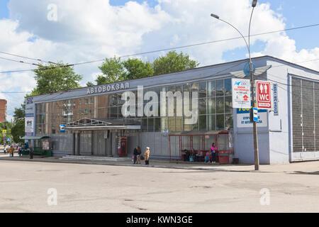 Vologda, Russia - June 20, 2017: Bus station building in Vologda - Stock Photo