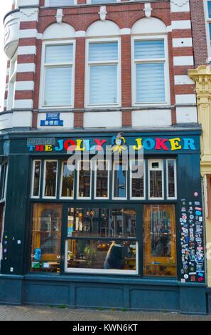Jolly Joker coffeeshop, Nieuwmarkt, old town, Amsterdam, The Netherlands - Stock Photo