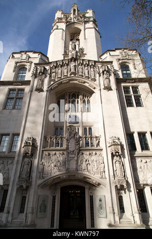 The Supreme Court of the United Kingdom in London, England. The court is at Middlesex Guildhall on Parliament Square. - Stock Photo