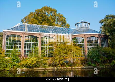 Historische Kas, Historical Greenhouse, Hortus Botanicus, botanical garden, Amsterdam, The Netherlands - Stock Photo