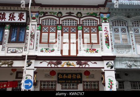 Heritage architecture in Singapore - Stock Photo