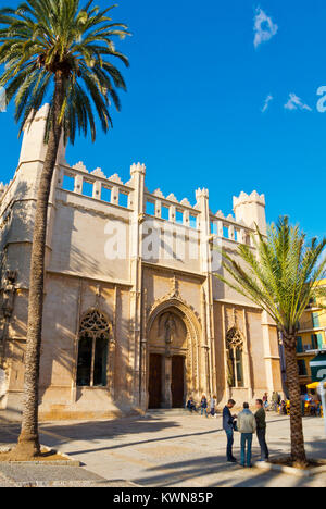 Sa Llotja, Lonja, medieval commercial building, Placa de la Llotja, Palma, Mallorca, Balearic islands, Spain - Stock Photo