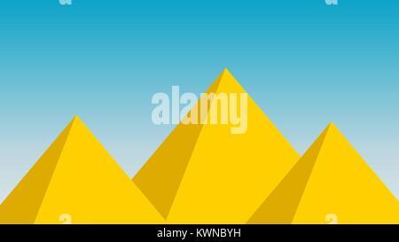 Pyramid landscape vector egyptian design background wallapper - Stock Photo
