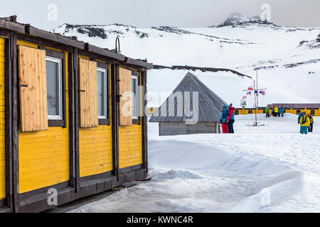Arctowski; Polish Research Station; King George Island; Antarctica - Stock Photo