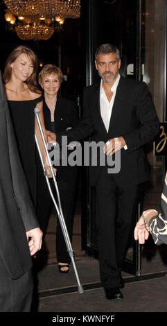 George Clooney and Sarah Larson. New York City celebrity ...