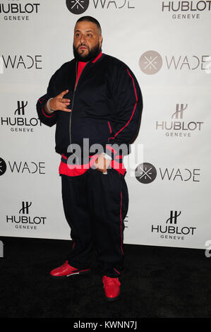 MIAMI, FL - NOVEMBER 10: DJ Khaled atttends celebration as Dwyane Wade joined Hublot Swiss luxury watch brand to - Stock Photo