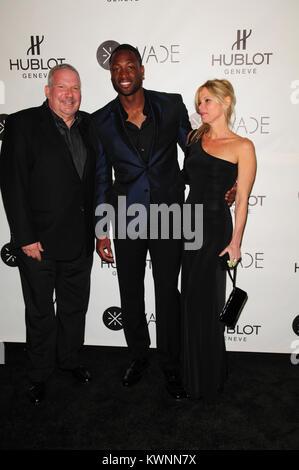 MIAMI, FL - NOVEMBER 10: Dwyane Wade atttends celebration as Dwyane Wade joined Hublot Swiss luxury watch brand - Stock Photo