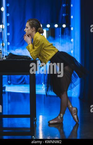 ballerina in dressing room - Stock Photo