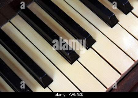 Piano keys on keyboard - Stock Photo