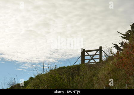 Gate on the Cliff - Stock Photo