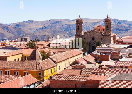 Potosi City Cathedral (Catedral de la Ciudad de Potosi) in Potosi, Bolivia - Stock Photo