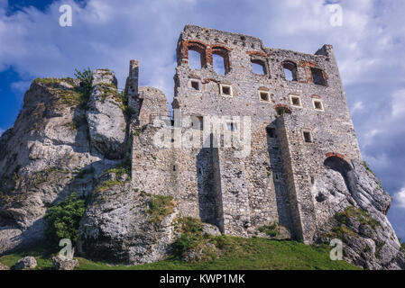 Ogrodzieniec Castle in Podzamcze village, part of the Eagles Nests castle system in Silesian Voivodeship of southern - Stock Photo