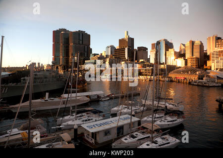 king street wharf darling harbour sydney new south wales australia - Stock Photo