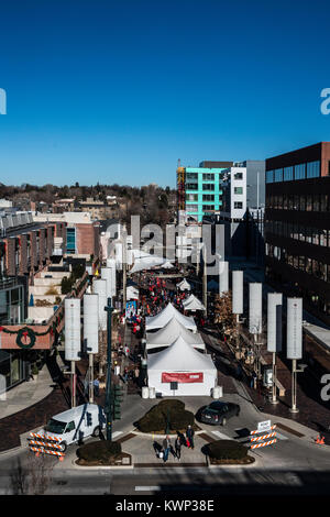 Denver Cherry Creek North USA Winter Festival - Stock Photo