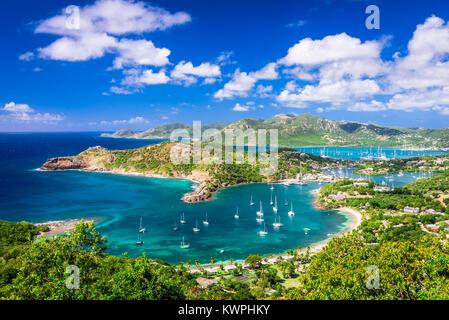 Shirley Heights, Antigua view. - Stock Photo