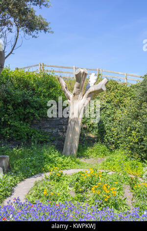 Bare dead tree trunk and branches in a park UK - Stock Photo