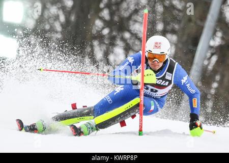 Zagreb, Croatia. 04th Jan, 2018. Liberatore Federico of Ita competes during the Audi FIS Alpine Ski World Cup Mens - Stock Photo