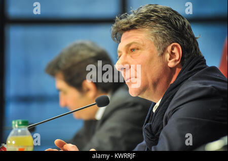 Turin, Italy. 5th Jan, 2018. Walter Mazzarri new head coach Torino FC during the first media conference at Stadio - Stock Photo