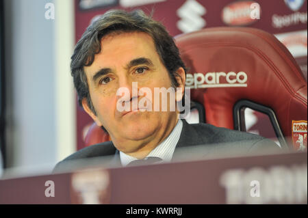 Turin, Italy. 5th Jan, 2018. Urbano Cairo President Torino FC during the first media conference presentation Walter - Stock Photo