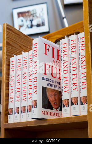 Seattle, USA. 05th Jan, 2018. Seattle Washington: Michael Wolff's book 'Fire and Fury: Inside the Trump White House' - Stock Photo
