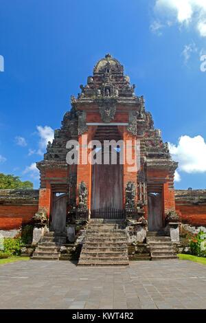 The Paduraksa, the main holy gate to the Holy Temple in Pura Taman Ayun, the royal temple at Mengwi, Badung, Bali, - Stock Photo