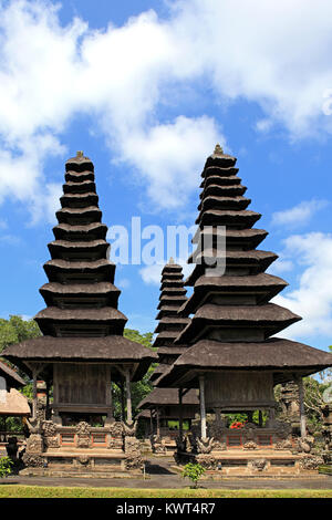 Shrines in the Holy Temple, Utama Mandala, in Pura Taman Ayun, the royal temple at Mengwi, Badung, Bali, Indonesia. - Stock Photo
