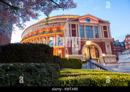 The Royal Albert Hall London, Victorian time architecture square - Stock Photo