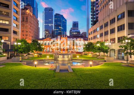 Brisbane. Cityscape image of Civic Square in Brisbane downtown, Australia during sunrise. - Stock Photo