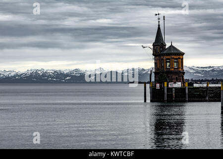 Harbor of Constance at Lake Constance - Stock Photo