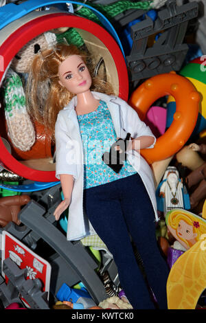 A Science Barbie Doll pictured at a home in Chichester, West Sussex, UK. - Stock Photo