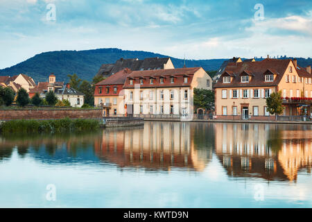 River Marne in Saverne, Bas-Rhin department in Alsace, France - Stock Photo