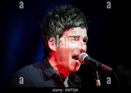 The English musician, singer and songwriter Noel Gallagher performs a live concert at VEGA in Copenhagen under the - Stock Photo