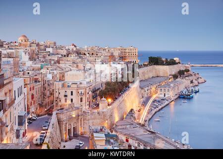The Grand Harbour, Valletta, Malta - Stock Photo