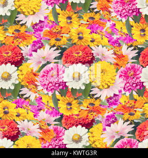 seamless colorful  floral pattern - Stock Photo