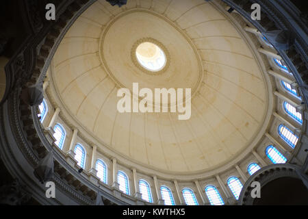 Valetta, Malta, European Capital of Culture 2018, Our Lady of Mount Carmel Church, inside image of the dome - Stock Photo