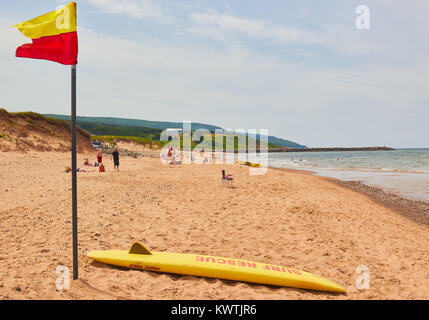 Surf rescue, Inverness beach, Inverness County, Cape Breton Island, Nova Scoatia, Canada. West coast of Cape Breton - Stock Photo