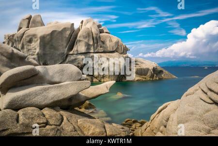 Rock formations at Capo Testa, Sardinia - Stock Photo