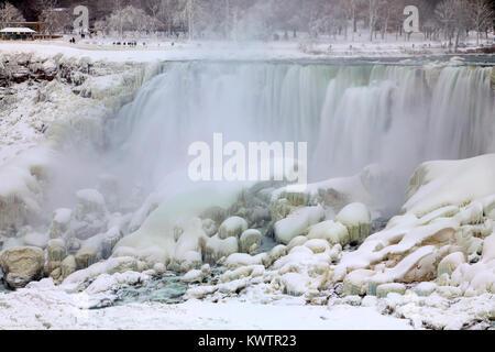 Niagara Falls - Ice Studies Jan 2018 - Stock Photo
