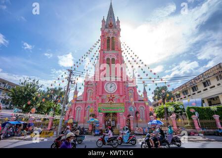 Church of the Sacred Heart of Jesus in Saigon - Stock Photo
