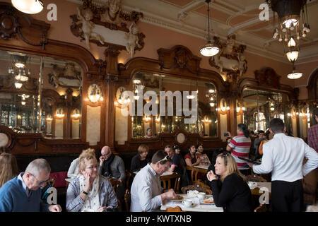 Cafe majestic in Porto, Portugal - Stock Photo