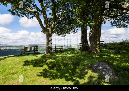 The view from Ilkley moor - Stock Photo