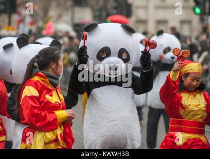 1 January 2018, the London New Years Day Parade in London's West End - Stock Photo