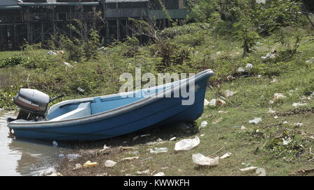 Charter Boats to Angkor Borei Takeo, Cambodia Decrepit Third World Underdeveloped Country South East Asia Unseen - Stock Photo