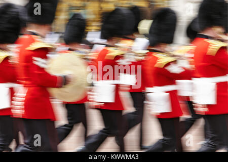 Changing Of The Guard, Buckingham Palace, London, England, Great Britain - Stock Photo
