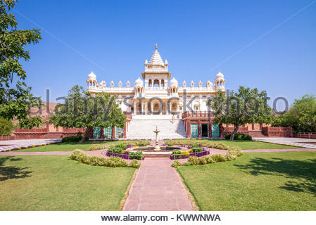 facade view of jaswant thada cenotaph in jodhpur - Stock Photo