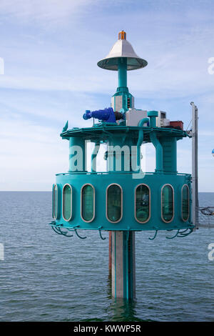 Dive bell at end of the pier, Zingst, Fishland, Mecklenburg-Western Pomerania, Baltic sea, Germany, Europe - Stock Photo