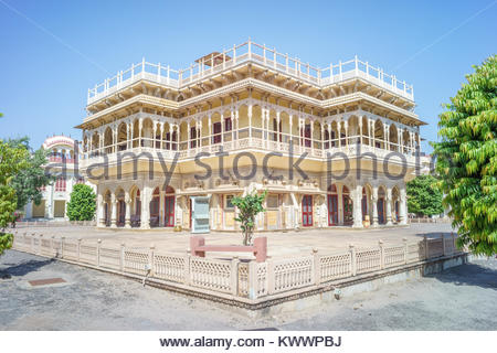 city palace, Jaipur, India - Stock Photo