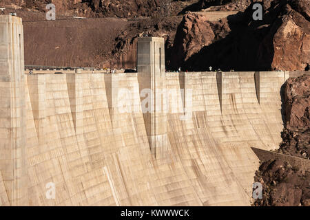 Hoover Dam infrastructure, Nevada, USA.