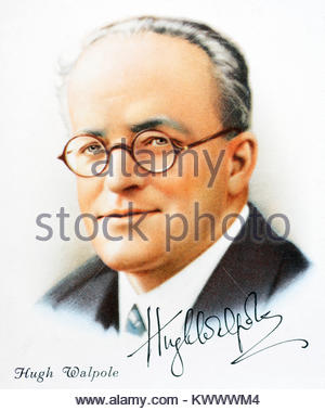 Hugh Walpole was an English novelist 1884 – 1941 - Stock Photo